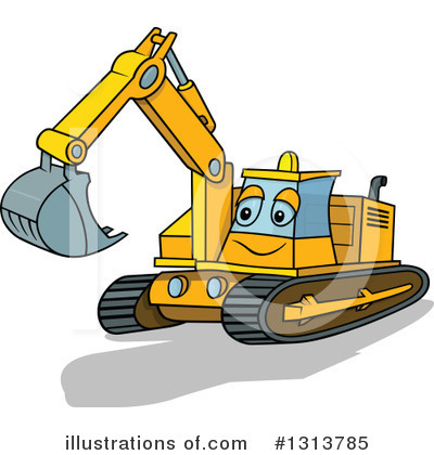 Royalty-Free (RF) Excavator Clipart Illustration by dero - Stock Sample #1313785