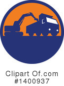 Royalty-Free (RF) Excavator Clipart Illustration #1400937