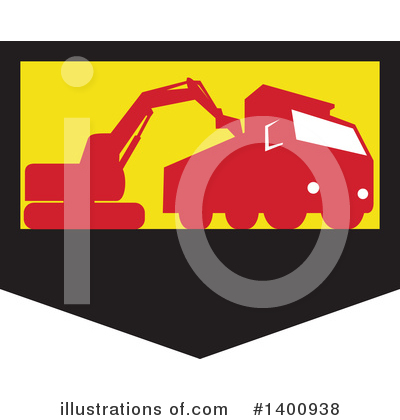 Royalty-Free (RF) Excavator Clipart Illustration by patrimonio - Stock Sample #1400938