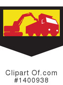 Royalty-Free (RF) Excavator Clipart Illustration #1400938