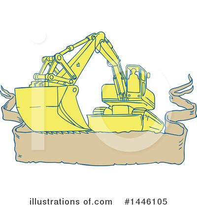 Heavy Machinery Clipart #1446105 by patrimonio