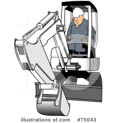 Rf excavator clipart illustration by djart stock sle 75043