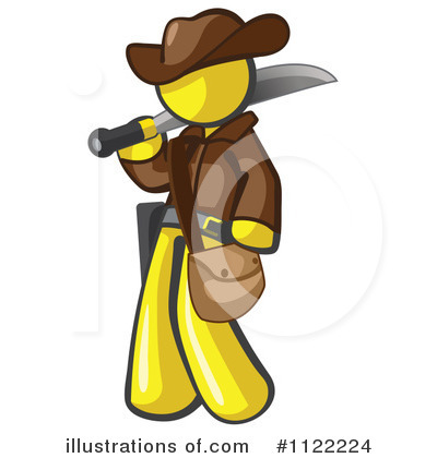 Yellow Design Mascot Clipart #1122224 by Leo Blanchette