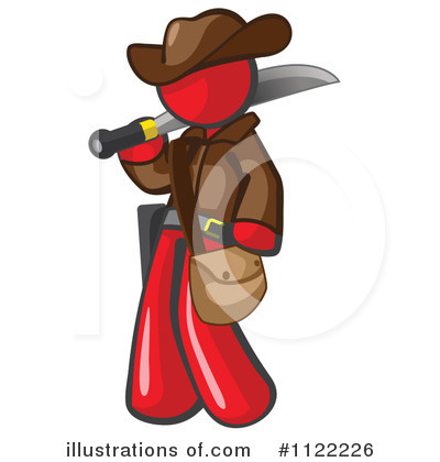 Red Design Mascot Clipart #1122226 by Leo Blanchette