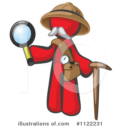Red Design Mascot Clipart #1122231 by Leo Blanchette