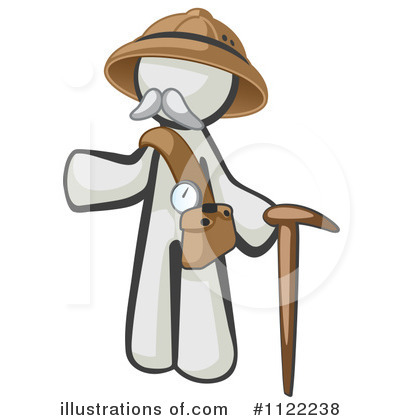 White Design Mascot Clipart #1122238 by Leo Blanchette