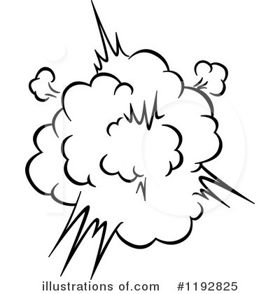 Explosion Clip Art Black And White Png | Info