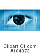 Royalty-Free (RF) Eye Clipart Illustration #104373