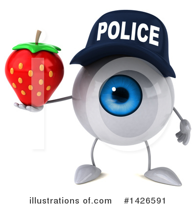 Royalty-Free (RF) Eyeball Character Clipart Illustration by Julos - Stock Sample #1426591