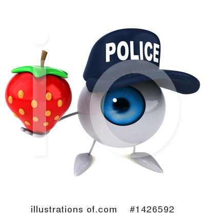 Royalty-Free (RF) Eyeball Character Clipart Illustration by Julos - Stock Sample #1426592