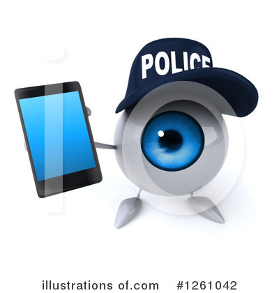 Royalty-Free (RF) Eyeball Clipart Illustration by Julos - Stock Sample #1261042
