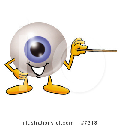 Royalty-Free (RF) Eyeball Clipart Illustration by Toons4Biz - Stock Sample #7313