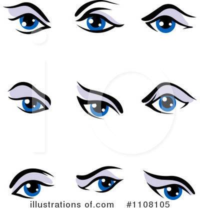 Eyes Clipart #1108105 by Vector Tradition SM