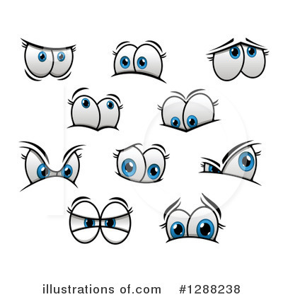 Eyes Clipart #1288238 by Vector Tradition SM
