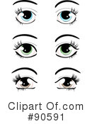 Royalty-Free (RF) Eyes Clipart Illustration #90591