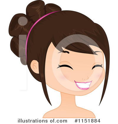 Royalty-Free (RF) Face Clipart Illustration by Melisende Vector - Stock Sample #1151884