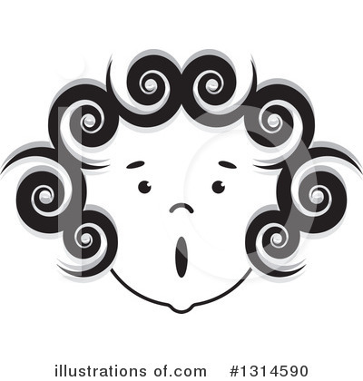 Royalty-Free (RF) Face Clipart Illustration by Lal Perera - Stock Sample #1314590