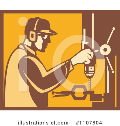 Royalty-Free (RF) Factory Clipart Illustration by patrimonio - Stock Sample #1107804