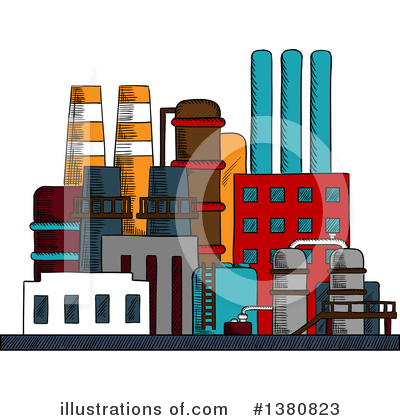 Factory Clipart #1380823 by Vector Tradition SM
