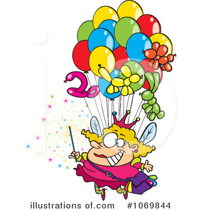 Balloons Clipart #1069844 by toonaday