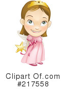 Royalty-Free (RF) Fairy Princess Clipart Illustration #217558