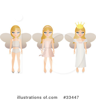 Fairy Princess Clipart #33447 by Melisende Vector