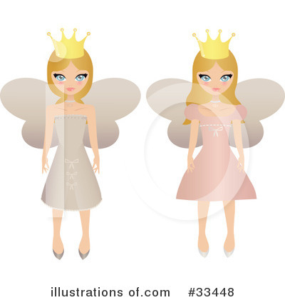 Royalty-Free (RF) Fairy Princess Clipart Illustration by Melisende Vector - Stock Sample #33448