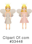 Royalty-Free (RF) Fairy Princess Clipart Illustration #33448