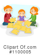Royalty-Free (RF) Family Clipart Illustration #1100005