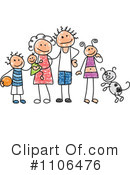 Royalty-Free (RF) Family Clipart Illustration #1106476