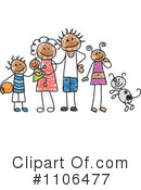 Royalty-Free (RF) Family Clipart Illustration #1106477