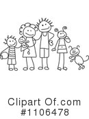 Royalty-Free (RF) Family Clipart Illustration #1106478