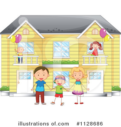 House Clipart #1128686 by Graphics RF