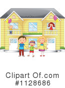 Royalty-Free (RF) Family Clipart Illustration #1128686