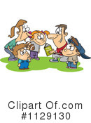 Royalty-Free (RF) Family Clipart Illustration #1129130