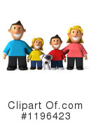 Royalty-Free (RF) Family Clipart Illustration #1196423