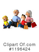 Royalty-Free (RF) Family Clipart Illustration #1196424