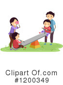 Royalty-Free (RF) Family Clipart Illustration #1200349