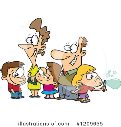 Royalty-Free (RF) Family Clipart Illustration by toonaday - Stock Sample #1209655