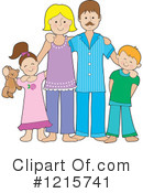 Royalty-Free (RF) Family Clipart Illustration #1215741
