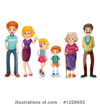Family Clipart #1226655 by Graphics RF