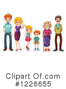 Royalty-Free (RF) Family Clipart Illustration #1226655
