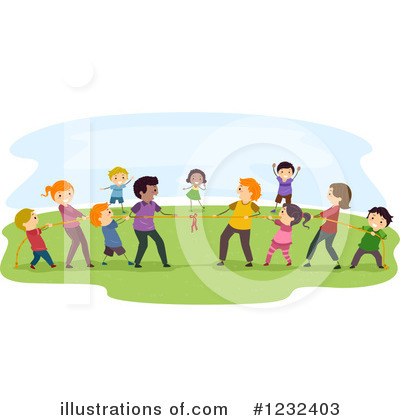 Tug Of War Clipart #1232403 by BNP Design Studio