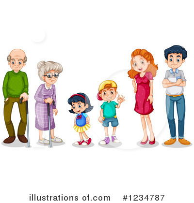 Family Clipart #1234787 by Graphics RF