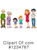 Royalty-Free (RF) Family Clipart Illustration #1234787