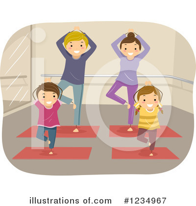 Yoga Clipart #1234967 by BNP Design Studio