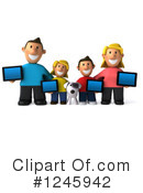 Royalty-Free (RF) Family Clipart Illustration #1245942