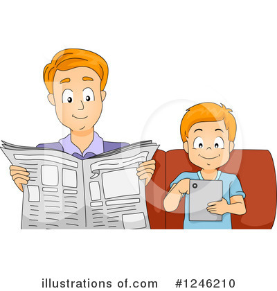 Newspaper Clipart #1246210 by BNP Design Studio