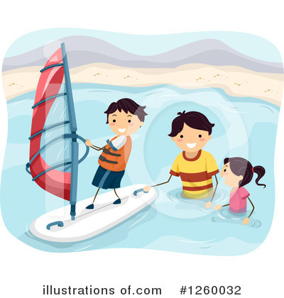 Windsurfing Clipart #1260032 by BNP Design Studio