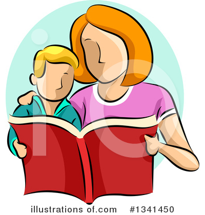 Reading Clipart #1341450 by BNP Design Studio